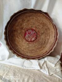 Cesto (pallinedda) con inserto tessuto